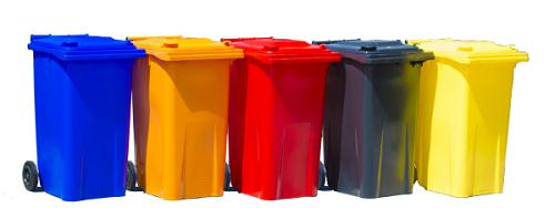 سطل زباله پلاستیکی چرخدار