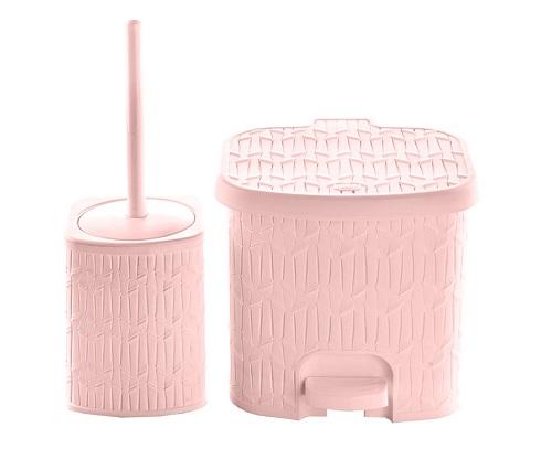 سطل زباله پلاستیکی حمام لیمون