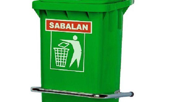 سطل زباله پلاستیکی آشپزخانه سبلان