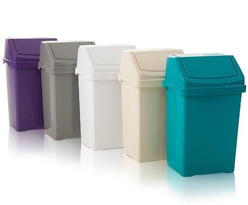 خرید سطل زباله پلاستیکی درب دار