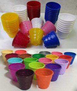 گلدان پلاستیکی ارزان رنگی